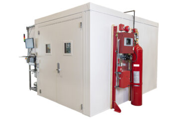 acs manufactured an integrated fire rated enclosure and safety system for r&d testing to optimize fuel filtration products
