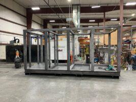 integrated test cell enclosure end of line production test designed built full structural frame