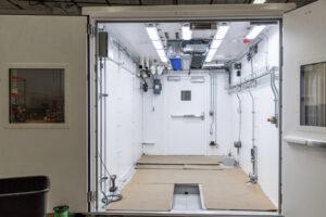 Modular enclosure designed built end of line production test dual vane pump