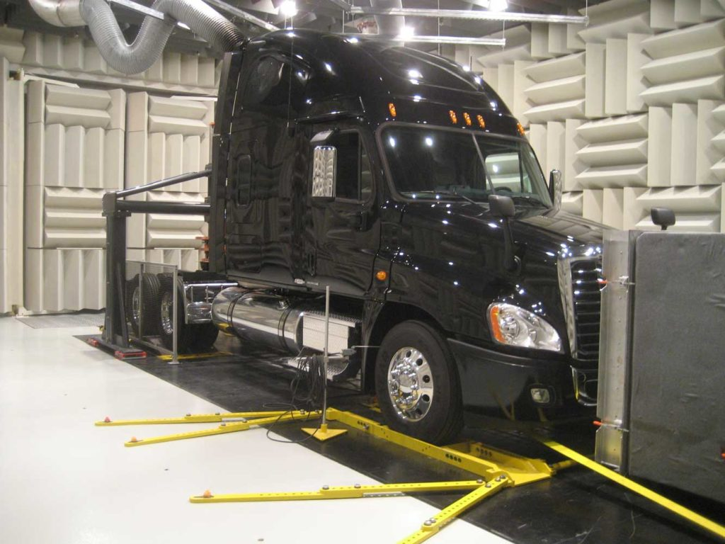 acoustic test facility heavy duty truck