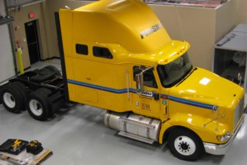 acoustic test facility heavy duty truck