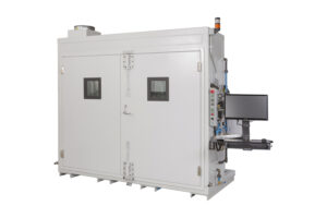 free standing test enclosure for engine component testing using a variety of fuels